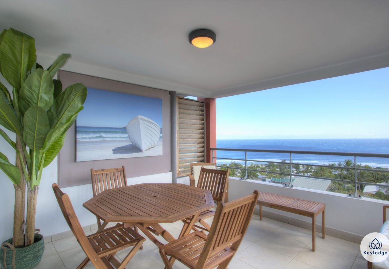 Apartment in Saint-Gilles les Bains - T3 - Infini bleu - 63 m2 - ocean view - St-Gilles